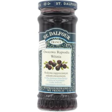 Konfitura wiśniowa Owocowa Rapsodia nie jest dodatkowo dosładzany. Posiada naturalny smak.