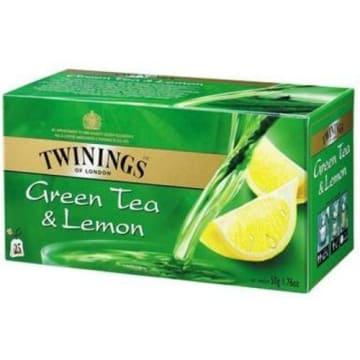 Herbata ekspresowa Green Lemon – Twinings to wyjątkowa zielona herbata z orzeźwiającą cytryną.