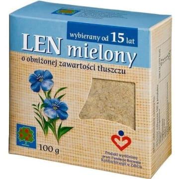 Len mielony – Eko produkt. Naturalny, mielony produkt bez dodatku tłuszczu.