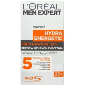 LOREAL MEN EXPERT Hydra Energetic Krem nawilżający 50ml nawilża i usuwa oznaki zmęczenia.