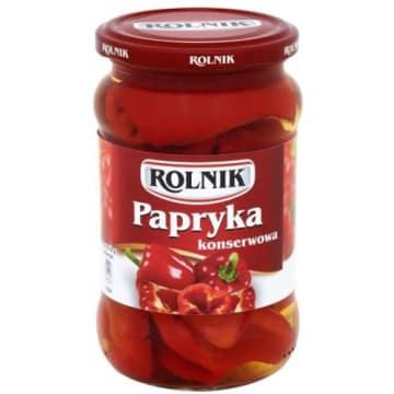 Rolnik – Papryka konserwowa w ćwiartkach Standardma pyszny, wyrazisty smak i doskonałą konsystencję.