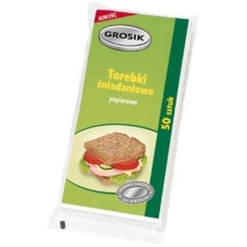 Torebki śniadaniowe - Grosik. Praktyczne papierowe torebki na drugie śniadanie dla małych i dużych łasuchów.