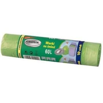 Worki HD z taśmą 60l 10szt. - Grosik. Doskonała jakość w korzystnej cenie.