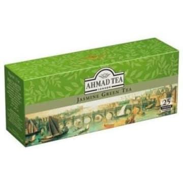 Ahmad Tea -  Herbata zielona aromatyzowana 25 torebek. Aromatyczna nuta kwiatu jaśminu.