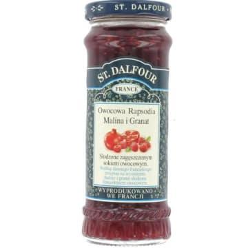 Konfitura Malina-Granat Owocowa Rapsodia -St Dalfour. To prawdziwy owocowy rarytas dla koneserów.