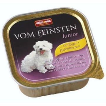 Pokarm dla psa 150g - Animonda Vom Feinsten Junior. Dostarcza wiele wartości odżywczych.