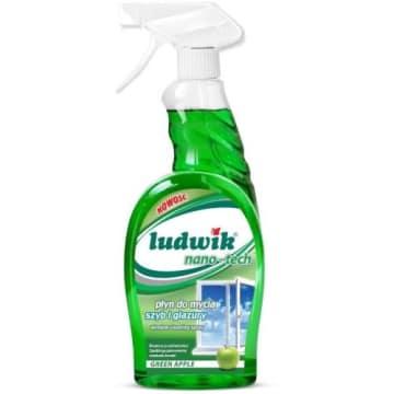Płyn do mycia szyb i glazury Ludwik nie pozostawia smug i skutecznie czyści każde zabrudzenie.