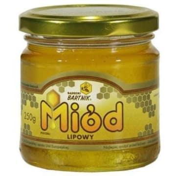 Miód lipowy - Bartnik Sądecki ma pyszny, intensywny i lekko gorzki smak.