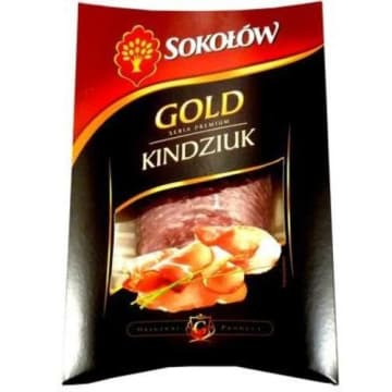Szynka Gold Kindziuk - Sokolów. Plasterki aromatycznej szynki z mięsa wieprzowego.