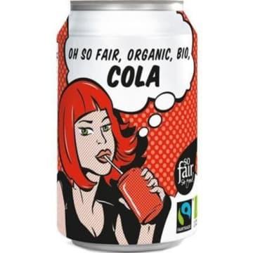 Cola Bio - Oxfam. Słodzona cukrem trzcinowym i wzbogacona naturalnymi aromatami.