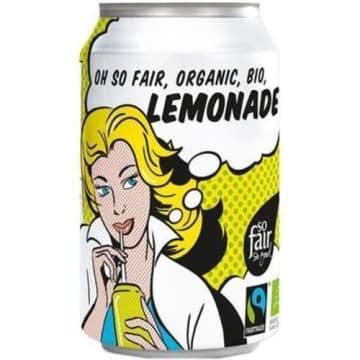Lemoniada - napój gazowany Bio Fair trade Oxfam to cytrusowy napój słodzony cukrem trzcinowym.