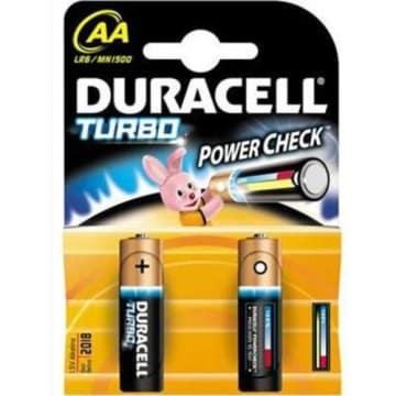 Baterie alkaiczne LR 6 AA Turbo Duracell. Dłuższe działanie energochłonnych urządzeń.