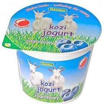 Jogurt kozi o smaku jagodowych 125g- Danmis. Cieszy się dużym powodzeniem, ma wielu miłośników.