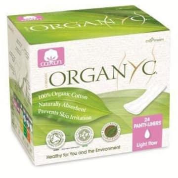 Wkładki higieniczne Organyc wyprodukowano z ekologicznej bawełny. Nie podrażniają.
