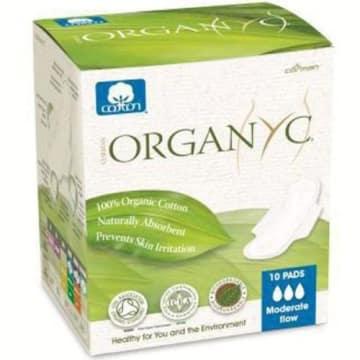 Podpaski ze skrzydełkami na dzień – Organyc. Zostały wyprodukowane w 100% z ekologicznej bawełny.