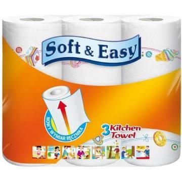 Ręcznik kuchenny dekorowany Soft&Easy wykazują wyjątkową chłonność.