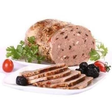 Gęś ze śliwką - CEDROB. Delikatne mięso, przygotowane w formie plastrów.