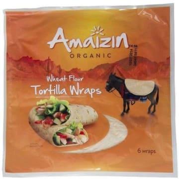 Tortilla pszenna 6 szt BIO - Amaizin