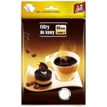 Jan Niezbędny - Filtry do kawy rozmiar 4. Umożliwiają oddzielenie fusów od aromatycznej kawy.