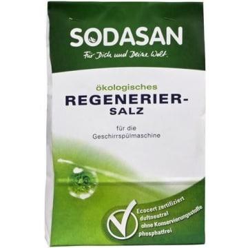 Sól regeneracyjna do zmywarek Bio Sodasan zapobiega powstawaniu osadu wapiennego na naczyniach.