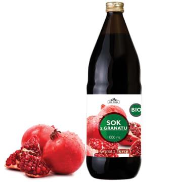 Bio sok z owoców granatu 100 % 1l – Dr Gaja. 100 % sok z dojrzałych owoców granatu.