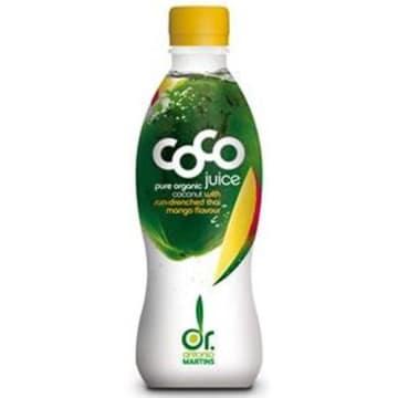 Woda kokosowa z mango DR.MARTINS BIO 330ml - dla miłośników całkowicie naturalnych smaków.