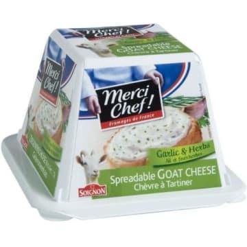 Merci Chef! – Serek kozi do smarowania z czosnkiem i ziołami -