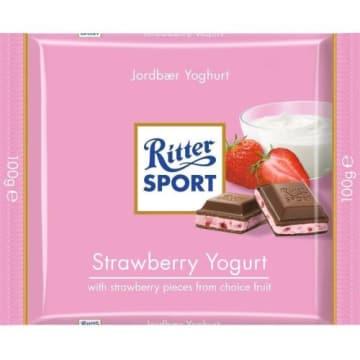 Czekolada z nadzieniem truskawkowo-jogurtowym - Ritter Sport - dla dużych i małych