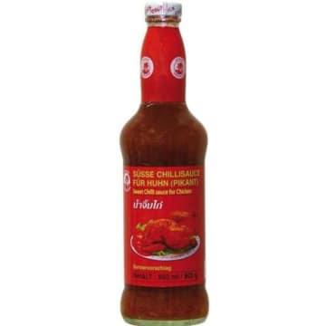Sos chili słodko-pikantny – Cock. Posiłki można ubogacić sosem o słodko-pikantnym smaku.