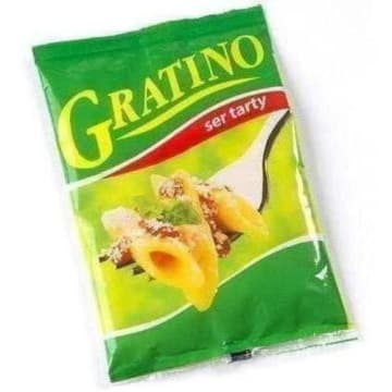 Ser Gratino tarty - Grozette. Wyrazisty w smaku ser włoski twardy.
