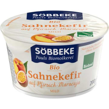 Kefir serek brzoskwinia i marakuja Sobbeke - świetny do smarowania pieczywa. Bez dodatku cukru.