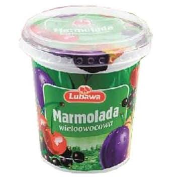 Marmolada wieloowocowa twarda 400g LUBAWA. Pyszne owocowe wspomnienie smaków dzieciństwa.