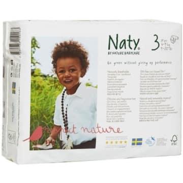 NATY Ekologiczne Pieluszki 3 (4-9kg) 31 szt 1szt
