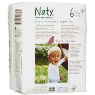 NATY Ekologiczne Pieluszki 6 (16-27kg) 17 szt 1szt