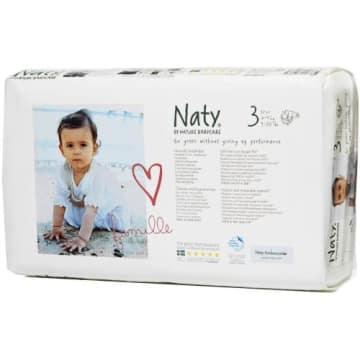 Ekologiczne pieluszki (4-9 kg) 52 szt. - Naty. Pieluszki dla delikatnej skóry dziecka.