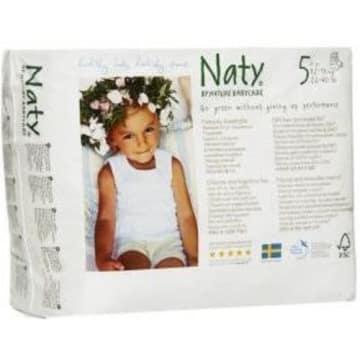 Ekologiczne Pieluchomajtki 5 (12-18kg) 20 szt - Naty. Bardzo chłonne i delikatne dla skóry.