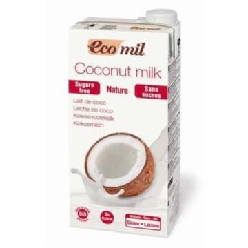 Mleko kokosowe niesłodzone Ecomil - do picia, płatków oraz sosów