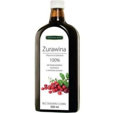 Sok bezpośrednio wyciskany z owoców żurawiny - Premium Rosa
