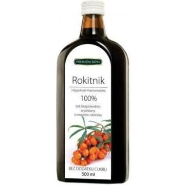 Sok wyciskany z owoców rokitnika - Premium Rosa