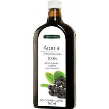 Sok wyciskany z owoców aronii 100% 500ml - Premium Rosa
