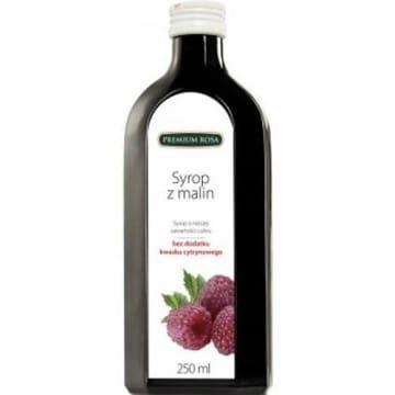Syrop malinowy o obniżonej zawartości cukru - Premium Rosa