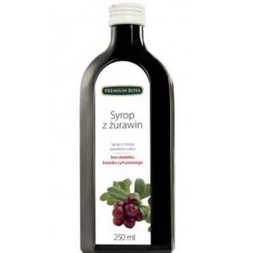 Syrop żurawinowy – Premium Rosa o małej zawartości cukru to zdrowy słodki dodatek w diecie.