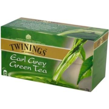 Herbata ekspresowa Green Earl Grey 25 szt- Twinnings o niezwykłym smaku i aromacie.
