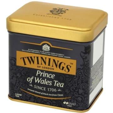 Herbata liściasta Prince of Wales-Twinings. Wyróżnia się delikatnym smakiem i jasnym kolorem.