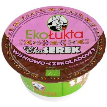 Serek wiśniowo-czekoladowy - Ekołukta. Wysokiej jakości kremowy serek z ekologicznych produktów.
