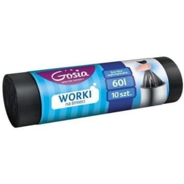Gosia - Worki na śmieci 60l 10 szt. Gwarancja najwyższej jakości.
