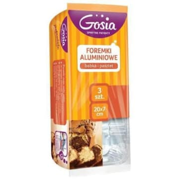 Gosia - Foremki aluminiowe 3 sztuki. Praktyczne foremki do pieczenia.