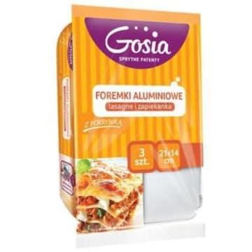 Folia aluminiowa do lasagne i zapiekanek, 3 szt. - Gosia - najlepsze foremki do zapiekania.