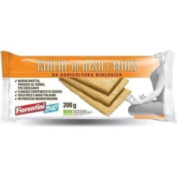 Chrupkie pieczywo ryżowo-kukurydziane Bio - Fiorentini. Lekki zamiennik chleba.