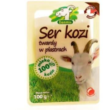 Ser kozi twardy w plastrach - Danmis. Jego wyrazisty smak nada potrawom wyjątkowego aromatu.